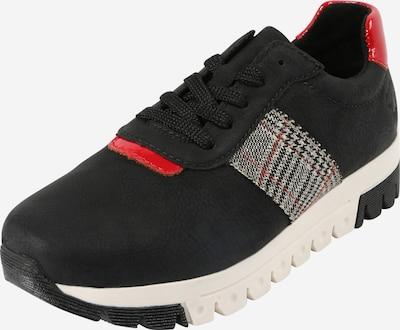 RIEKER Chaussure à lacets en rouge / noir, Vue avec produit