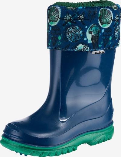 ROMIKA Gummistiefel 'Seaworld' in blau / grün, Produktansicht
