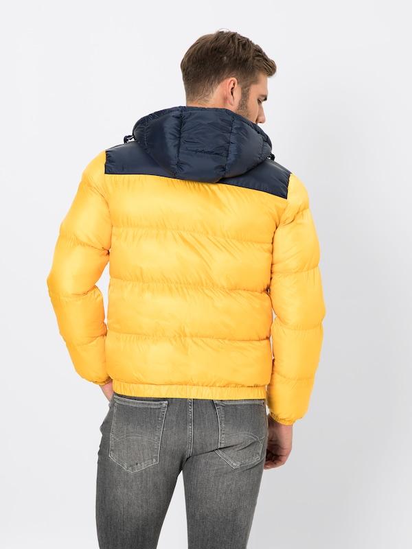 Classics Veste Puffa Jacket' D'hiver Bleu MarineJaune Jeans Tommy 'tjm En 1FlKJcT