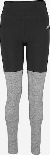 ADIDAS PERFORMANCE Sport-Leggings 'ATHLETICS KEY PIECES' in graumeliert / schwarz / weiß, Produktansicht