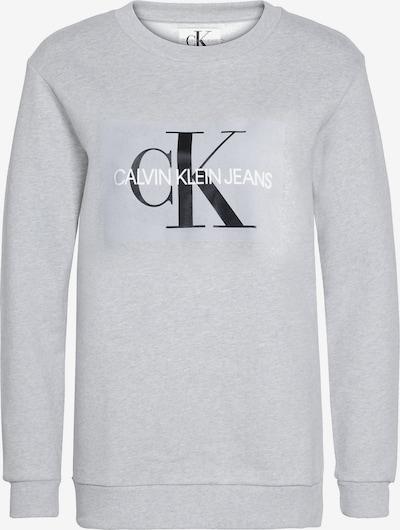 Calvin Klein Jeans Sweatshirt in de kleur Grijs gemêleerd: Vooraanzicht
