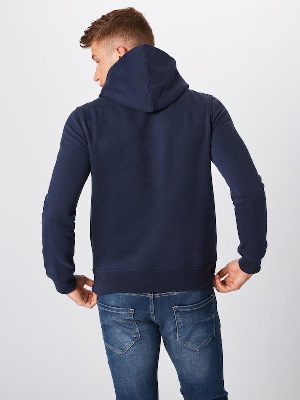 Gap Fleece Sweat 'sueded Marine Hd' Po shirt En Bleu 8Onw0Pk