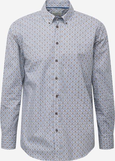 bugatti Hemd in beige / hellblau / braun, Produktansicht