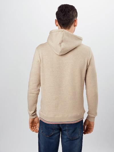 Les Deux Sweatshirt 'Embossed Encore Hoodie' in de kleur Beige: Vooraanzicht