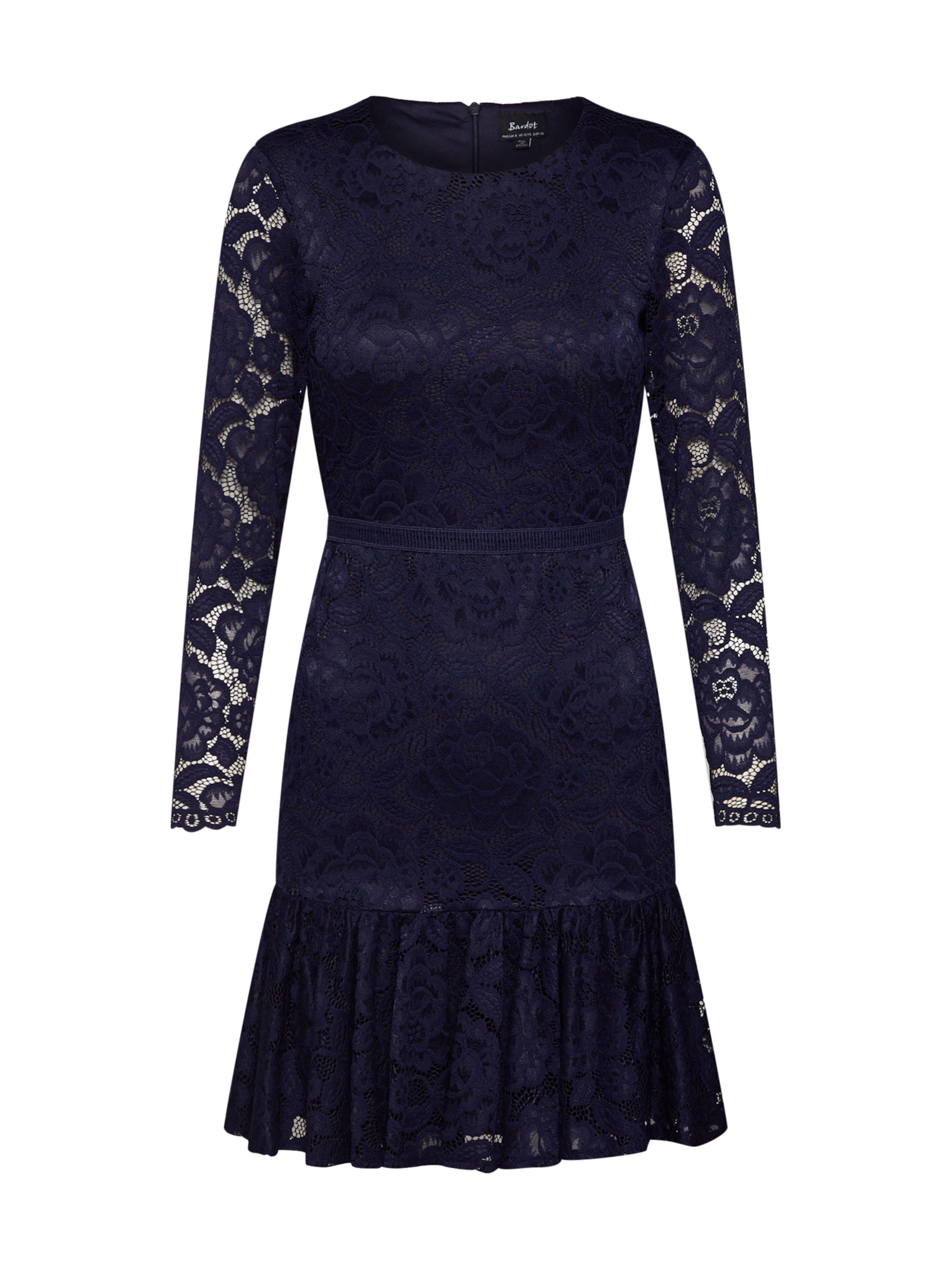 Dress' Bardot Lace In Ls Blau 'rubi PvmN8w0Oyn