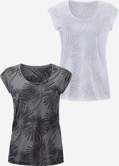 BEACH TIME Tričko - čadičová / biela, Produkt