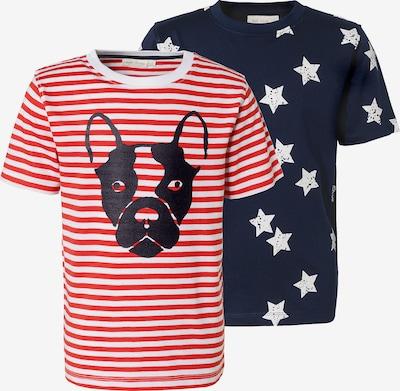 myToys-COLLECTION T-Shirt in nachtblau / hellrot / weiß, Produktansicht