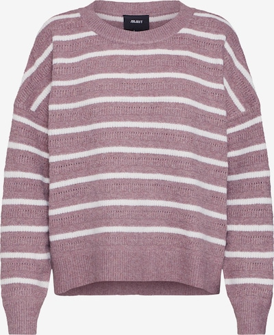 OBJECT Pullover 'MAGS' in rosé / weiß, Produktansicht