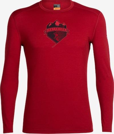 Icebreaker Shirt 'Oasis LS Crewe Alpine Crest' in rot, Produktansicht