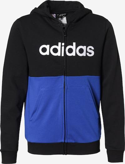 ADIDAS PERFORMANCE Sweatjacke in blau / schwarz / weiß, Produktansicht