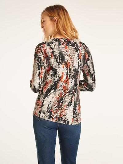 Pulover heine pe culori mixte: Privire spate