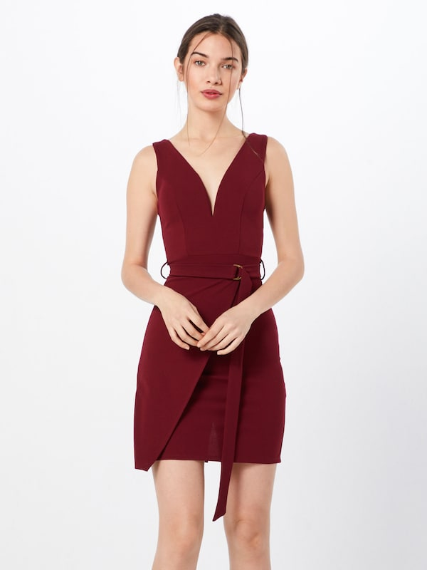 WAL G. Kleid in bordeaux, Modelansicht