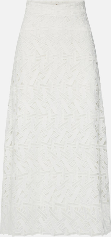 IVY & OAK Rock 'Midi Graphic Lace Skirt' in weiß, Produktansicht