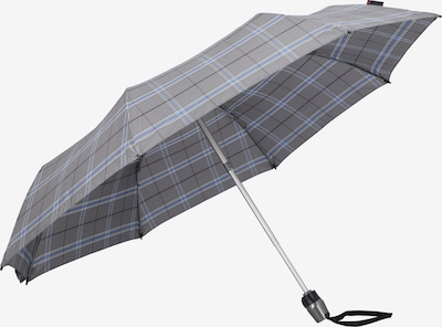 KNIRPS Taschenschirm 'T 200 Medium Duomatic' in blau / grau / weiß, Produktansicht