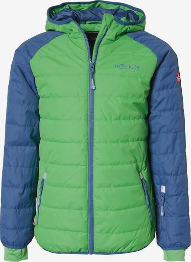TROLLKIDS Jacke 'Hafjell' in blau / hellgrün, Produktansicht