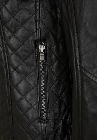 7ELEVEN Lederjacke 'LUISE' in schwarz, Produktansicht