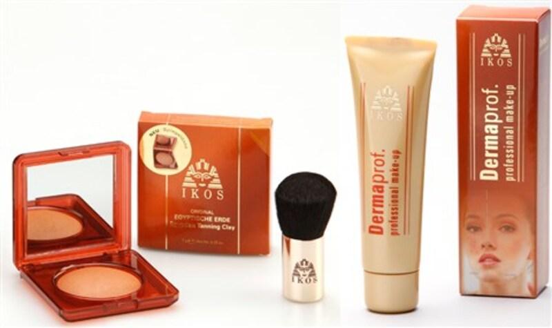 IKOS 'Dermaprof. Make-up & Egyptische Erde' Set mit Kabuki-Pinsel