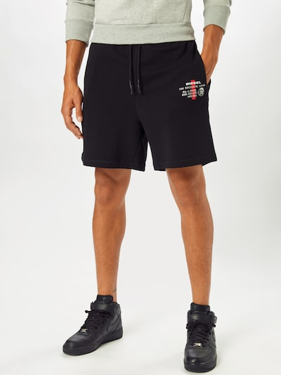 DIESEL Shorts in schwarz: Frontalansicht