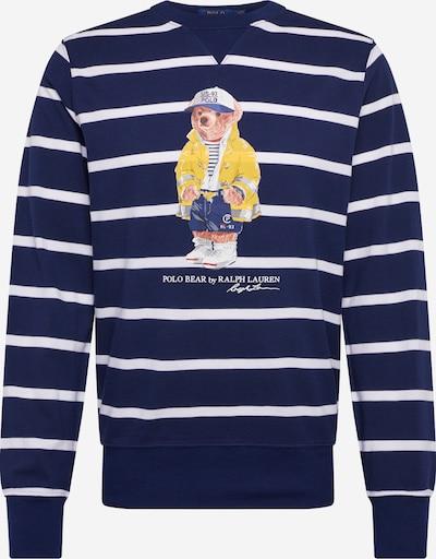 POLO RALPH LAUREN Sweat-shirt 'YD LS CN M8-LONG SLEEVE-KNIT' en bleu marine / blanc, Vue avec produit