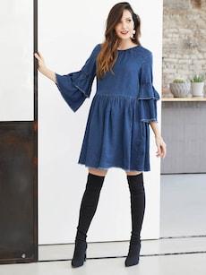 jeanskleider ohne versandkosten bestellen about you. Black Bedroom Furniture Sets. Home Design Ideas