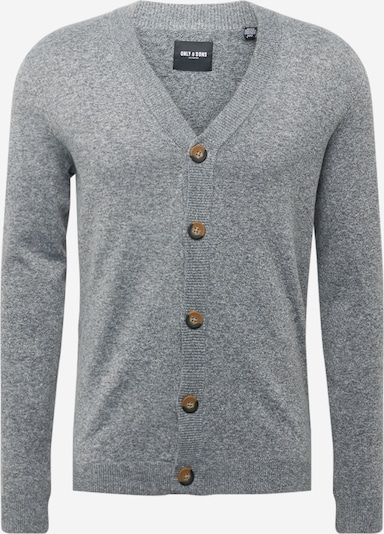 Only & Sons Strickjacke 'LENNARD' in graumeliert, Produktansicht
