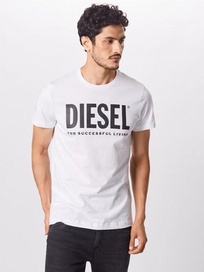 Marškinėliai 'DIEGO' iš DIESEL , spalva - juoda / balta: Vaizdas iš priekio