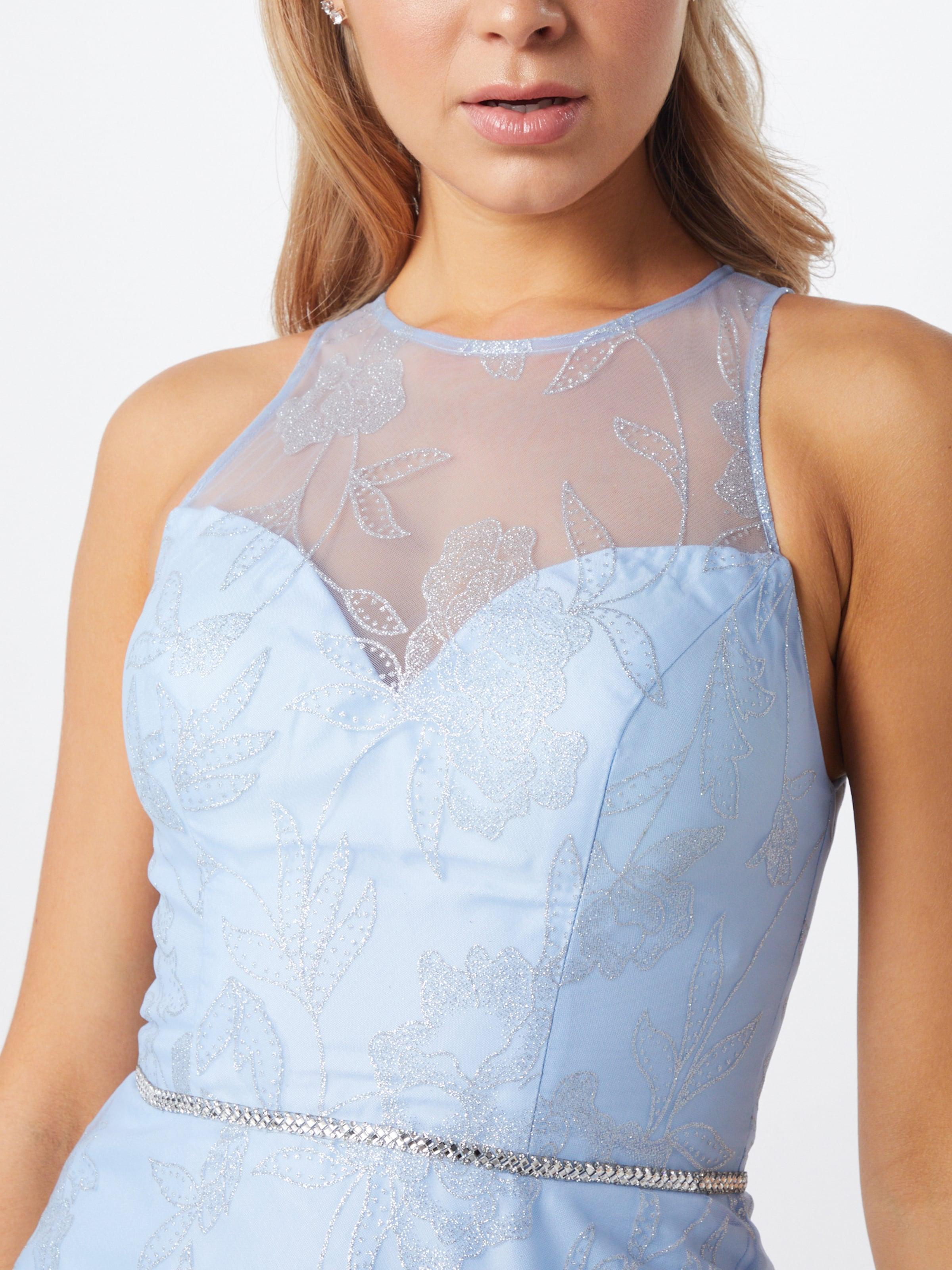 LUXUAR Cocktailklänning i ljusblå / silver