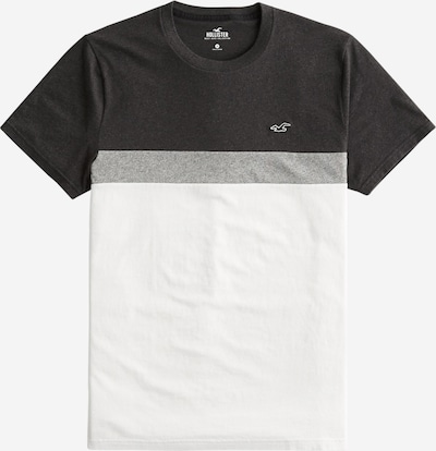 HOLLISTER T-Shirt in grau / schwarz / weiß, Produktansicht