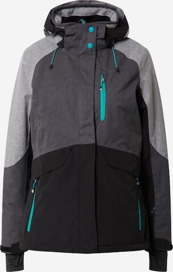 KILLTEC Sport-Jacke 'Savognin' in grau / anthrazit / graumeliert / jade, Produktansicht