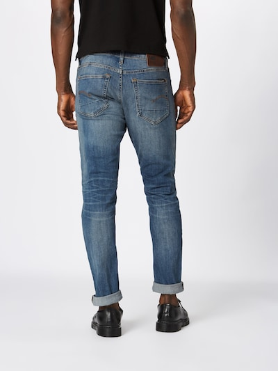 G-Star RAW Jean '3301 Slim' en bleu denim: Vue de dos