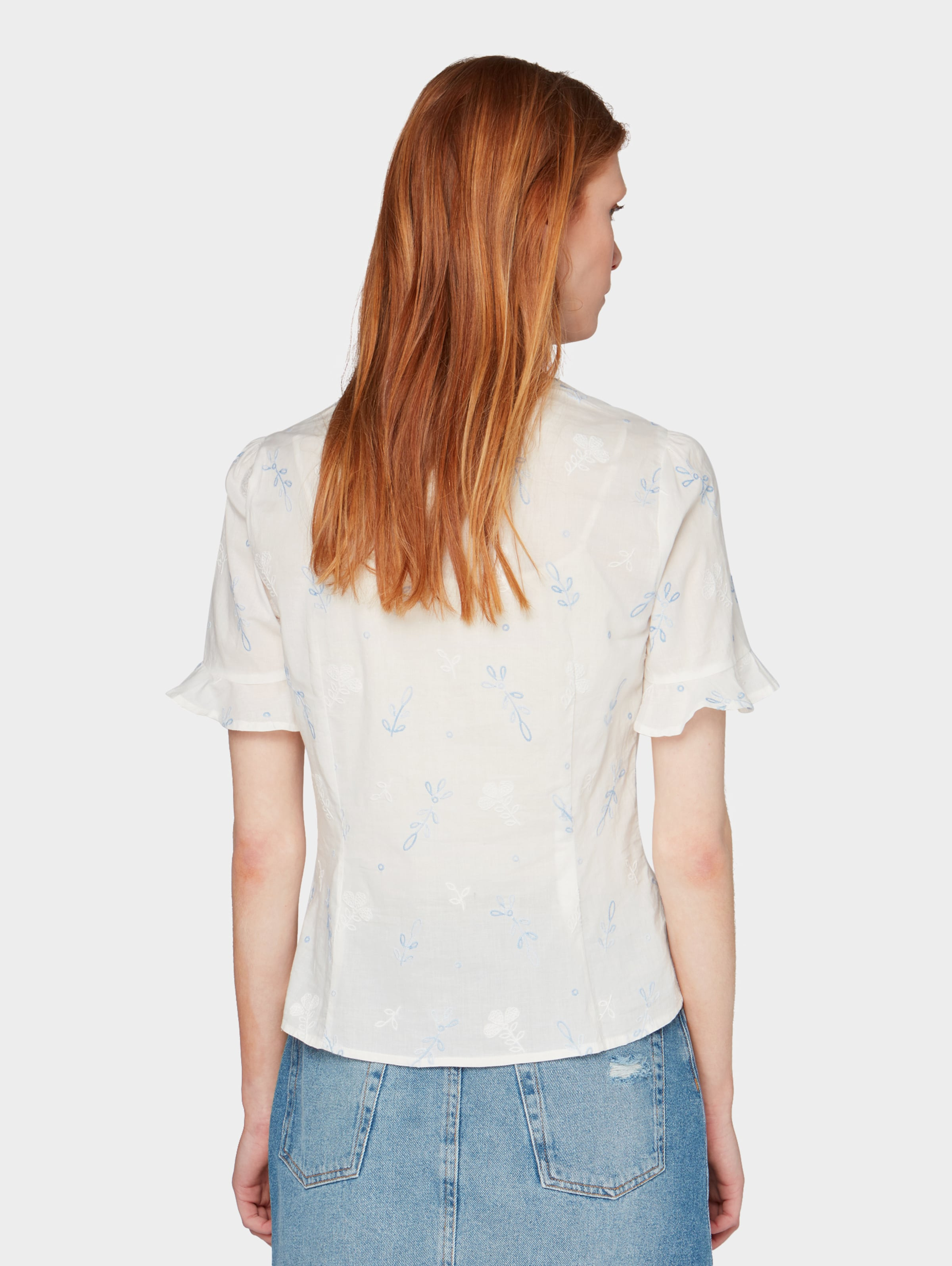 Denim Bluse In Offwhite Tom Tailor WEHID29