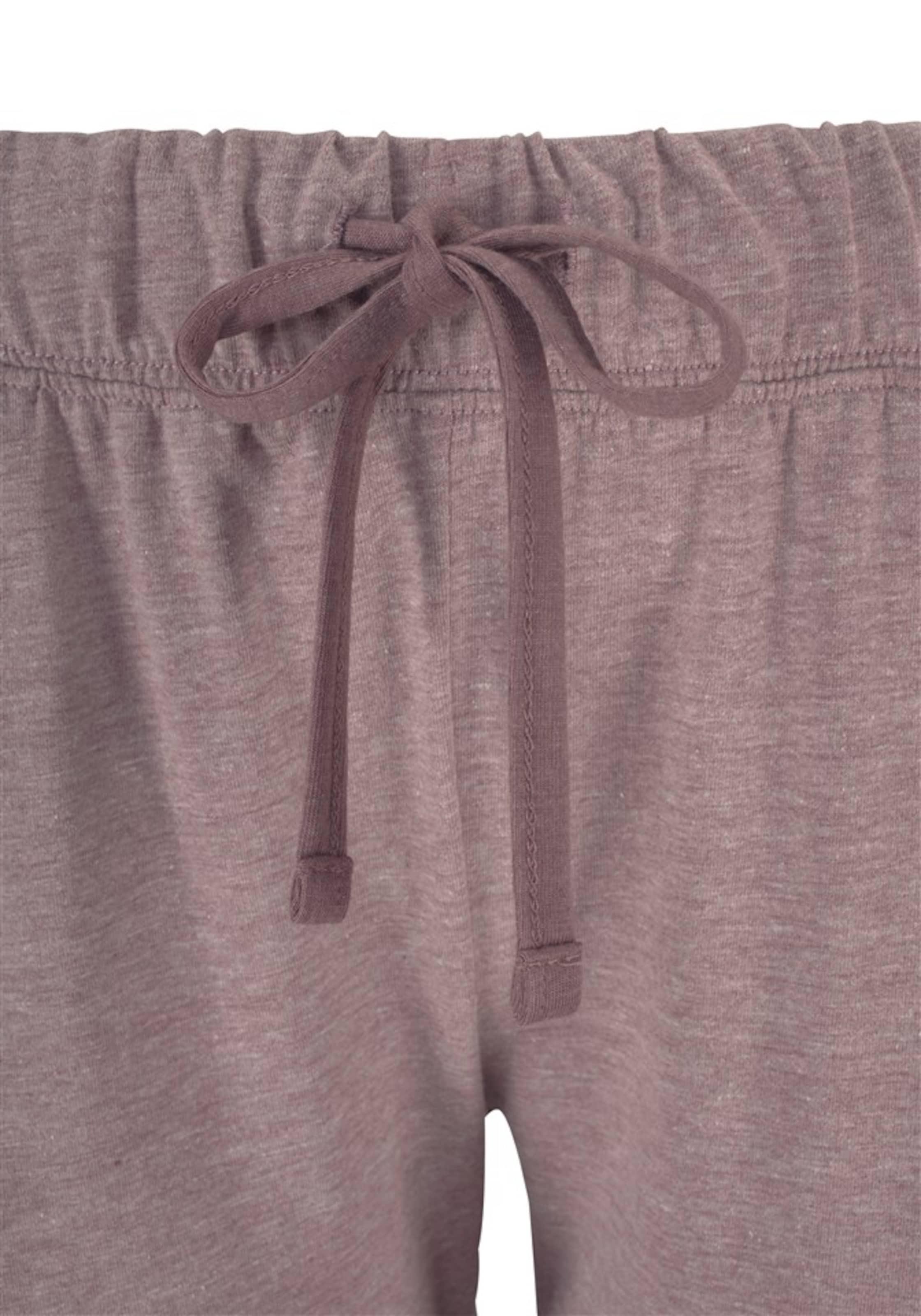 Melierter Basic pyjama Qualität In Knopfleiste Mauve Arizona Mit UGjzVMpLqS