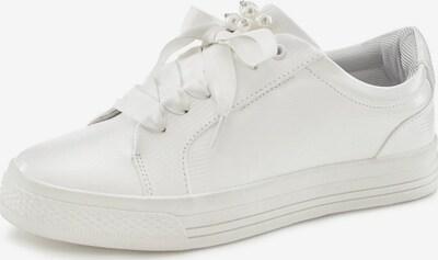 Sneaker low LASCANA pe alb / alb perlat, Vizualizare produs