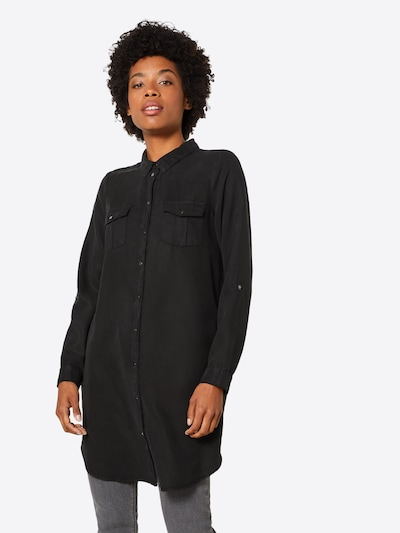 VERO MODA Košilové šaty 'Chambray' - černá, Model/ka