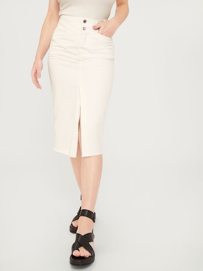 EDITED Rok 'Runa' in de kleur White denim, Modelweergave