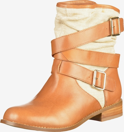 mellow yellow Stiefelette in cognac / cappuccino, Produktansicht
