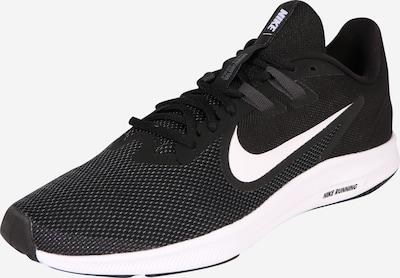 NIKE Laufschuhe 'Downshifter 9' in schwarz / weiß, Produktansicht