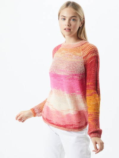 Noisy may Pullover 'LEED' in gold / rosa / rot, Modelansicht
