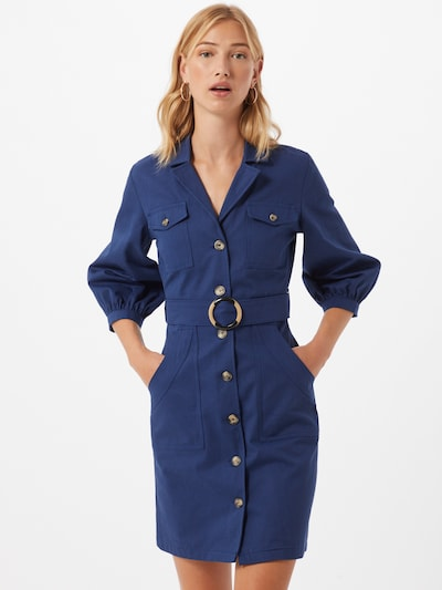 Rochie tip bluză Trendyol pe albastru: Privire frontală