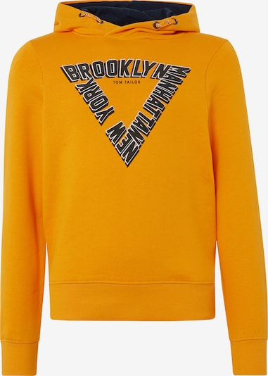 TOM TAILOR Hoodie in orange / schwarz / weiß, Produktansicht