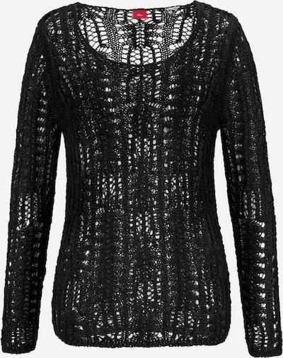 s.Oliver Strandpullover in schwarz, Produktansicht