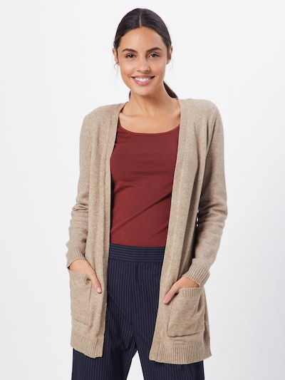 ONLY Strickjacke 'ONLLESLY L/S OPEN CARDIGAN KNT' in beige, Modelansicht