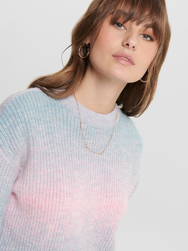 ONLY Pullover in hellblau / rosa: Frontalansicht