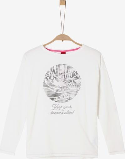s.Oliver Shirt in schwarzmeliert / weiß, Produktansicht