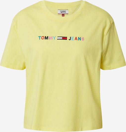 Tommy Jeans Shirt 'COLORED LINEAR' in gelb, Produktansicht