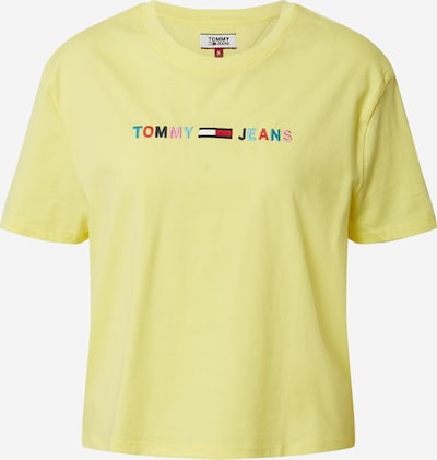 Tommy Jeans Shirt 'COLORED LINEAR' in blau / gelb / rosa / rot, Produktansicht
