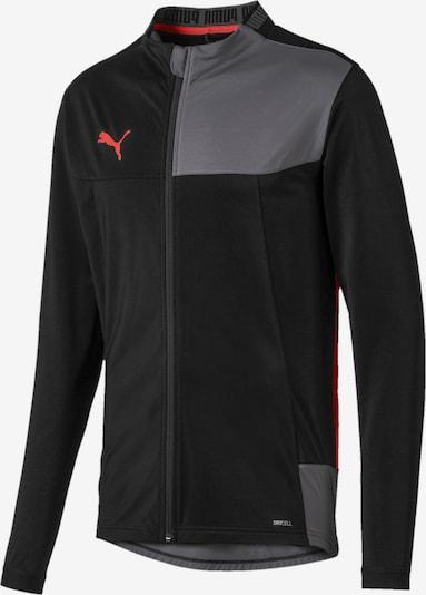 PUMA Sportjas in de kleur Grijs / Grenadine / Zwart, Productweergave