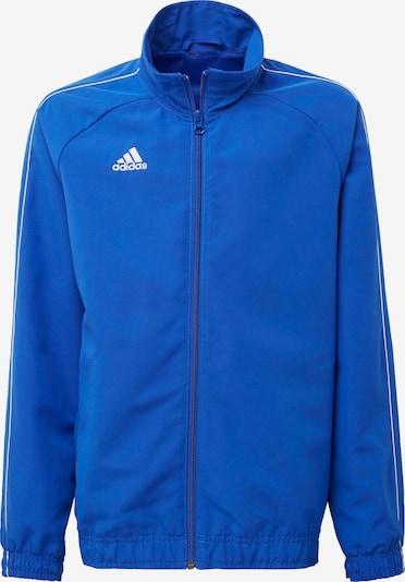ADIDAS PERFORMANCE Sport-Jacke 'Core 18' in blau / weiß, Produktansicht