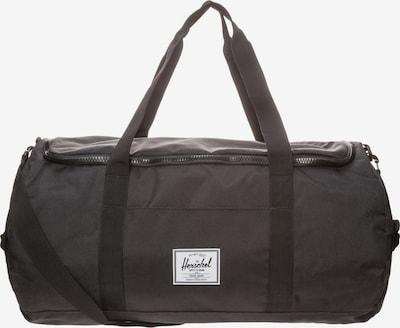 Herschel Tasche 'Sutton Duffel' in schwarz: Frontalansicht