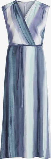 Betty & Co Streifenkleid mit Gummizug in hellblau / dunkelblau, Produktansicht